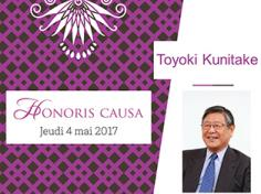 Prof Toyoki Kunitake Dr Honoris causa Université de Bordeaux